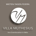 Das Logo der Event und Hochzeitslocation Villa Muthesius.